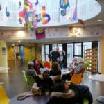 Notre première action de sensibilisation : les cafés au centre social Jean Vilar