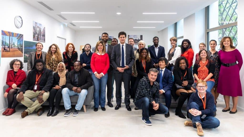 Les Lauréats de Talents des Cités 2019 après être passés devant les Jurys Nationaux. © Karine Péron Le Ouay